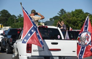 Confederate Flag flying white people